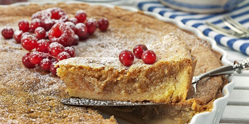 Saftig mandelpai - Mandelkaken er virkelig en drøm av en kake, myk og saftig som den er.
