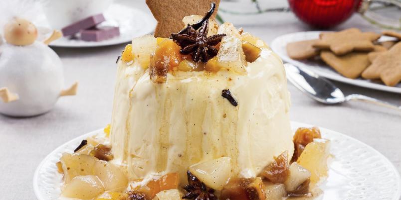 Juleis med julefrukter - Hjemmelaget iskrem med julefrukter - så enkelt og så godt!
