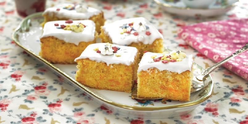 Gulrotkake - Gulrotkake med melis som gjør kaken litt mindre mektig!