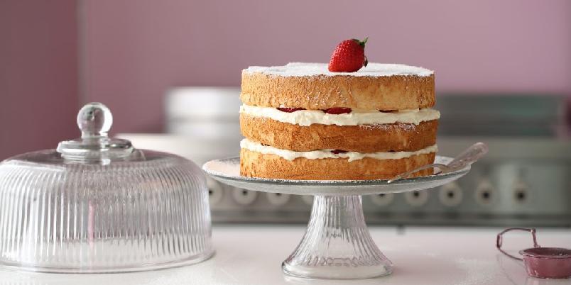 Tropisk englekake - Lag-på-lag-kake som smaker fantastisk godt...