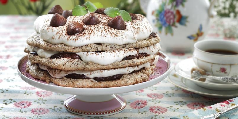 Sprø nøttekake med sjokolade - Digg kake, som til og med er glutenfri!