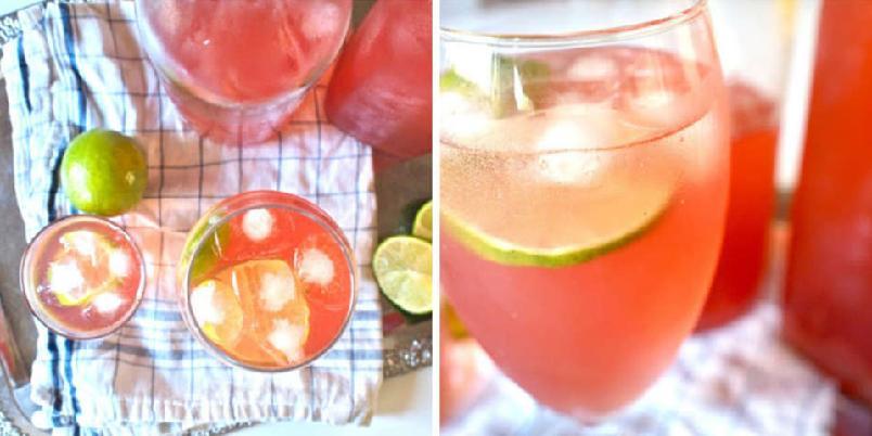 Tranebærlimonade - Forfriskende tranebærlimonade med lime.