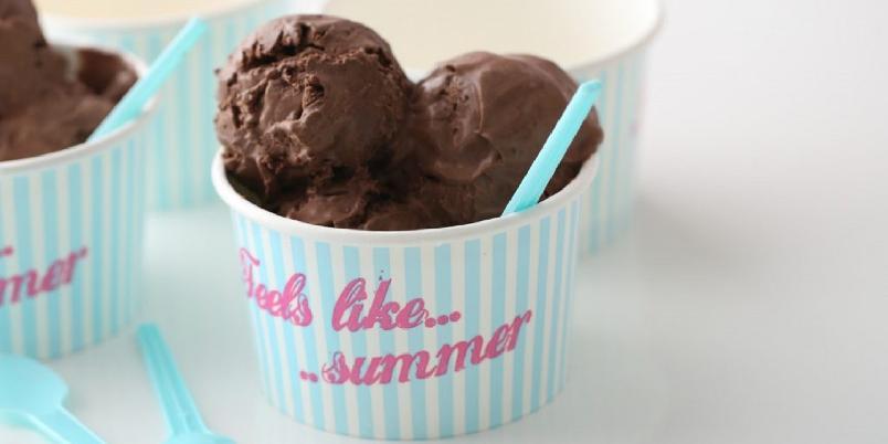 Mørk sjokoladeiskrem - Deilig og hjemmelaget, mørk sjokoladeiskrem.