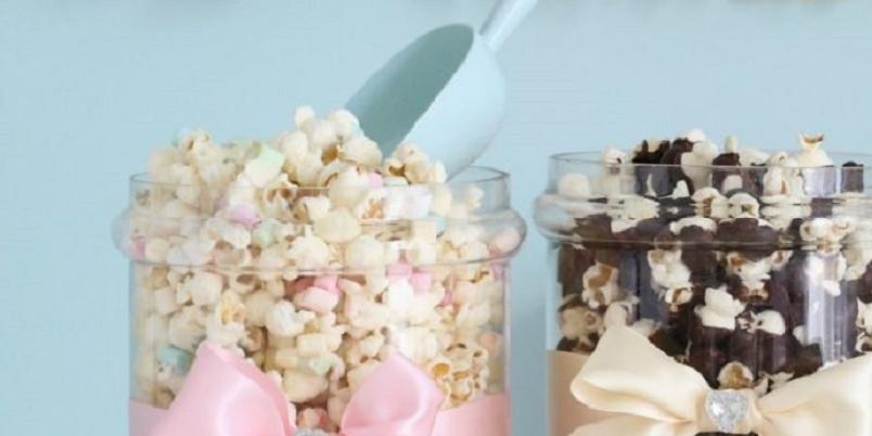 Pastell popcornblanding - Slik pimper du popcornet til å se like bra ut som det smaker.