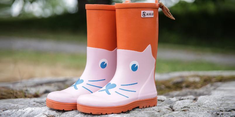 Test av gummistøvler til barn Tester og barneutstyr